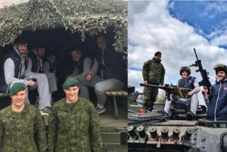 """Prieš pusfinalio seriją """"Lietkabelis"""" apsilankė kareivinėse"""