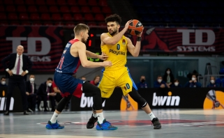 """Giedraičio ir Sedekerskio ekipos pergalių seriją nutraukė """"Maccabi"""""""