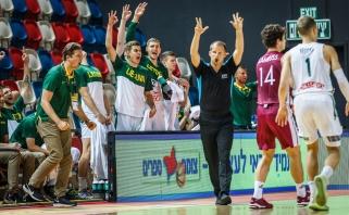 Lietuviai Europos čempionato aštuntfinalyje nepadoriai sumindė latvius