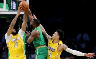 """""""Celtics"""" sudavė """"Lakers"""" skaudžiausią smūgį per pusšimtį metų"""