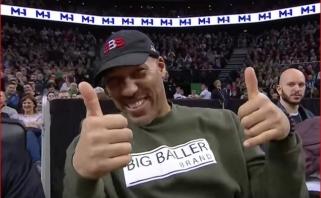 """Lietuviškai apie """"Žalgirio"""" arenos atmosferą prabilęs L.Ballas: man patinka!"""