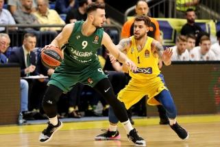 """Eurolyga: """"Maccabi"""" - """"Žalgiris"""" 50:39 (vyksta III kėlinys)"""