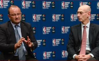 """Per FIBA """"langus"""" žaidėjų neišleidžiantis NBA vadovas giria šią sistemą"""