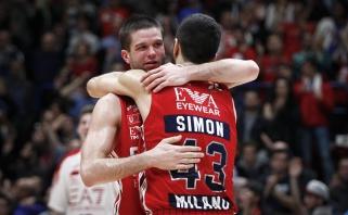 Įspūdingai žaidęs M.Kalnietis vedė Milano komandą į trečią pergalę finale