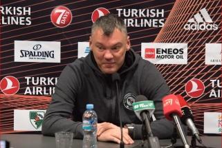 Š.Jasikevičius taktiškai išvengė klausimų ne apie krepšinį bei įvertino buksuojančius italus
