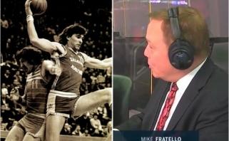 """Istorija apie """"Hawks"""" flirtą su A.Saboniu – tiesioginės NBA rungtynių transliacijos metu"""