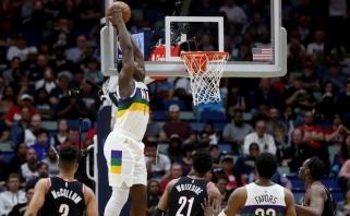 """Naujuoju LeBronu laikomas """"Pelicans"""" naujokas su karjeros rekordu nuliūdino svečius iš Portlando (rezultatai)"""