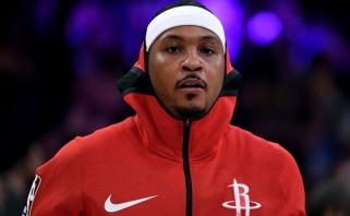 """""""Rockets"""" atsikratė nuo lapkričio nežaidusiu Anthony - puolėjas išsiųstas į """"Bulls"""""""