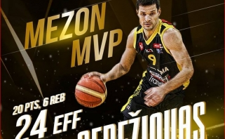 T.Sebežiovas Mezon NKL aštuntfinalį baigė dar vienu MVP titulu