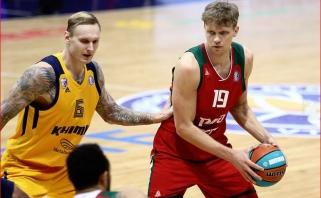 """Kuzminskas sužaidė sezono mačą, Kalniečio tritaškis padėjo nukauti """"Chimki"""""""