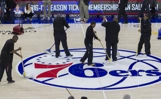 """NBA: atšauktas mačas, """"Lakers"""" pergalė Čikagoje ir N.Laprovittola starto penkete"""