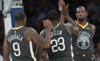 """K.Durantas siautėjo Niujorke, """"Rockets"""" be J.Hardeno skaudžiai krito namuose"""