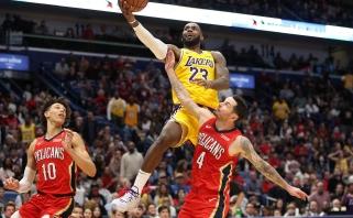 L.Jamesas tapo ketvirtuoju žaidėju NBA istorijoje pasiekusiu 33 tūkst. taškų ribą