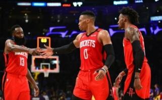 R.Westbrookas užtemdė ir J.Hardeną, ir LeBroną (rezultatai)