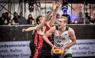 Lietuvos 3x3 rinktinė olimpinėje atrankoje itin dramatiškai palaužė belgus