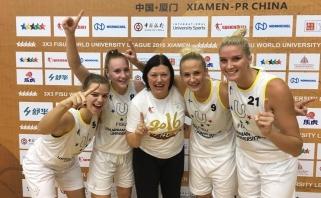 LSU merginos - pasaulio trijulių krepšinio čempionės