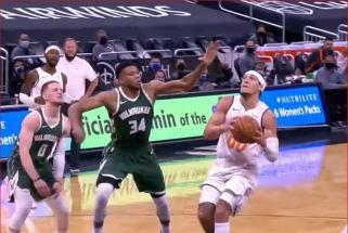 Du LaMelo perdavimai bei monstriškas Gordono dėjimas - NBA momentų dešimtuke