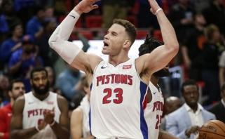 """Sužvėrėjęs Griffinas pelnė 50 taškų ir po dramatiško pratęsimo palaužė """"76ers"""" (rezultatai)"""