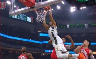 NBA momentų penketuke - įspūdingi G.Antetokounmpo dėjimai ir K.Leonardo tritaškis