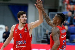 """Eurolygos turo naudingiausių viršūnėje - net trys žaidėjai iš mažo CSKA - """"Žalgiris"""""""
