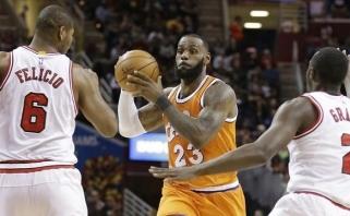 """NBA: """"Bulls"""" palaužė nukraujavusius """"Cavaliers"""", """"Hawks"""" nepaliko vilčių """"Magic"""""""