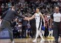 """Motiejūno sezonas tęsiasi: """"Spurs"""" išplėšė lemiamas rungtynes prieš """"Nuggets"""""""