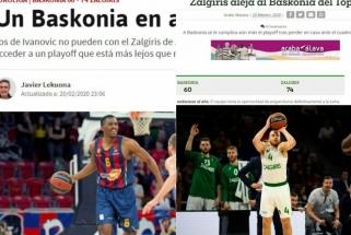 """Ispanijos žiniasklaida: prabanga nepasinaudojusi ir """"Žalgirio"""" nubausta """"Baskonia"""" tolsta nuo atkrintamųjų"""