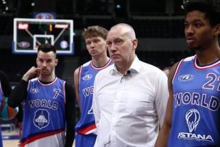 """Vieningosios lygos """"Visų žvaigždžių"""" mače triumfavo R.Kurtinaičio komanda su dviem lietuviais"""