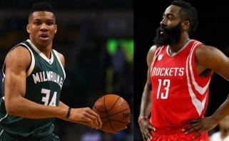 G.Antetokounmpo ir J.Hardenas - NBA savaitės MVP