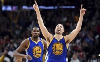 """NBA: 41-a """"Warriors"""" pergalė be pirmą mačą praleidusio S.Curry (rezultatai)"""