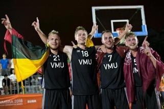 VDU krepšininkai tapo Europos universitetų žaidynių 3×3 čempionais