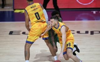 Žalgirietis T.Dimša sužaidė geriausią mačą Europos taurėje bei pataikė su sirena