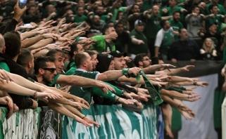 """""""Panathinaikos"""" klubui gresia didžiulė bauda už per didelį lankomumą"""