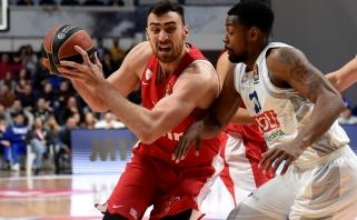 """""""Olympiakos"""" išsivežė svarbią pergalę iš Podgoricos"""