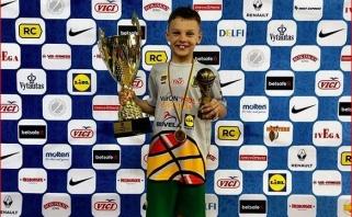 Š.Jasikevičiaus sūnus seka tėvo pėdomis - tapo Lietuvos darželinukų čempionu ir finalo MVP