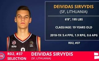 """D.Sirvydis sparnus už Atlanto gali kelti jau šią vasarą; I.Brazdeikį pasirinko """"Knicks"""""""