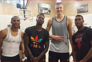 Vaikų treniruočių stovykloje Šiauliuose - NBA ir WNBA žaidėjų asmeninis treneris