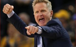 """""""Warriors"""" treneris S.Kerras: turime nuleisti šį pralaimėjimą klozete"""