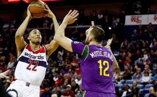 """D.Motiejūnas buvo trečias pagal rezultatyvumą """"Pelicans"""" ekipoje"""