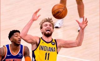 """Dar vieną Sabonio dvigubą dublį aptemdė """"Pacers"""" pralaimėjimas"""