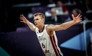 Latvių tritaškių salvė sudaužė bet kokias Juodkalnijos viltis
