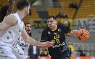 AEK su rezultatyviu J.Mačiuliu patyrė netikėtą nesėkmę Čempionų lygoje