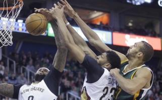 """D.Motiejūnas žaidė vos kelias minutes, """"Pelicans"""" pralaimėjo """"Jazz"""""""