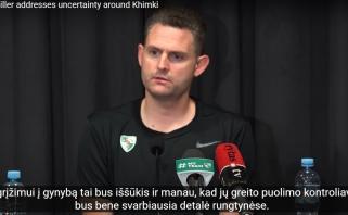 """M.Schilleris išskyrė pavojingiausią """"Chimki"""" žaidėją bei komandines stiprybes"""