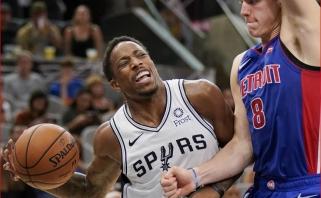 """NBA: pirmajame Casey ir DeRozano susitikime """"Spurs"""" įveikė """"Pistons"""" (rezultatai)"""