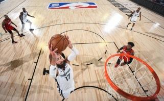 """J.Valančiūnas - arti dublio, bet """"grizliai"""" nusileido """"Rockets"""", o """"Pacers"""" laimėjo (rezultatai)"""