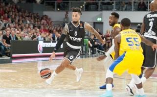 """Vokietijos čempionai nusileido įspūdingai finišavusiems """"Maccabi"""" krepšininkams"""