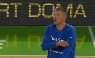 Slovėnijoje ant parketo vėl išbėgo Š.Jasikevičius