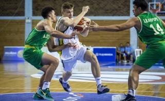 Žalgiriečių vedami devyniolikmečiai sutriuškino australus, ketvirtfinalyje susitiks su serbais