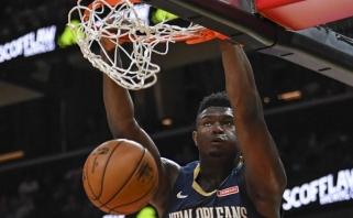 NBA naujokų biržos pirmojo šaukimo debiutas išsiskyrė tik dėjimais